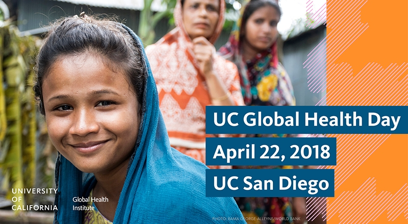 UC Global Health Day April 22 with smiling young woman in South Asia